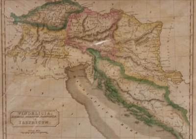 Butler, Samuel Vindelicia Pl VI 1839 Engraving from Atlas of Ancient Geography$100