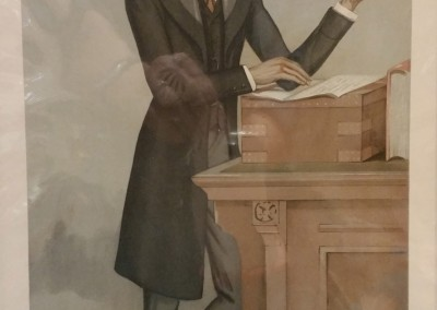 "Vanity Fair ""A Chief Secretary"" 1896 Chromolithograph  $80"