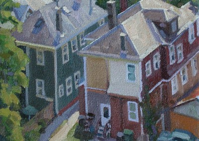 "Robert Morin Isley - ""From the Roof"", 10x10, Oil, Sold"
