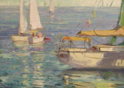 "G Russell Case - ""Calm Day"", 11x14, Oil, Sold"