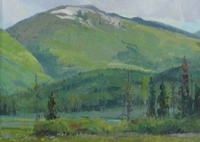 "G Russell Case - ""Farwell Mountain"", 11x14, Oil"