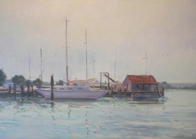 "G Russell Case - ""Morning Port"", 20x30, Oil"