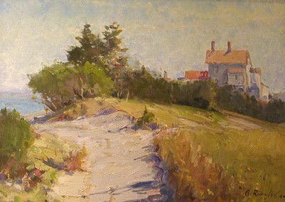 "G Russell Case  - ""North End, Figure 8"", 12x16, Oil, Sold"