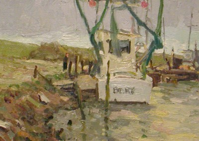 "G Russell Case - ""Sneeds Ferry"", 8x16, Oil, Sold"