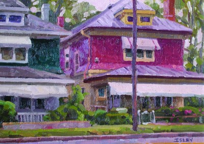 "Robert Morin Isley - ""Houses on 10th Street"", Oil, Sold"
