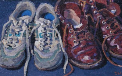 "Robert Morin Isley - ""Shoes"", Oil, Sold"