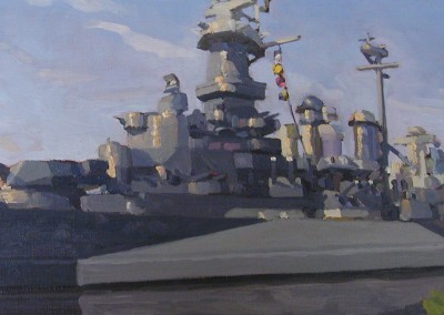 "Robert Morin Isley - ""USS North Carolina"", Oil, Sold"