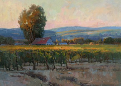 "John Poon - ""Evening Vinyard"", 36x48, oil, Sold"