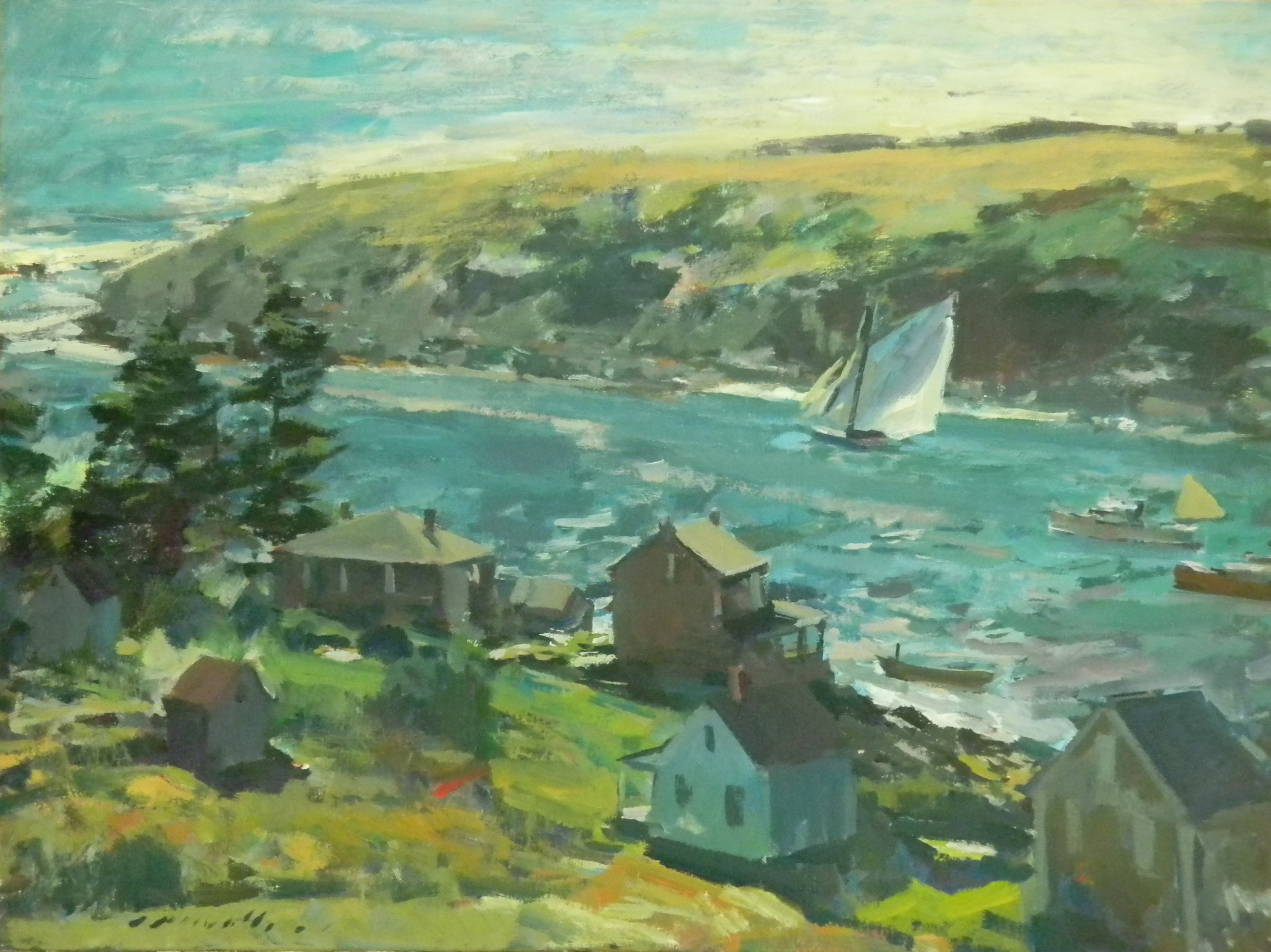 Charles Movalli, Walls Gallery, The Greenbrier, Monhegan