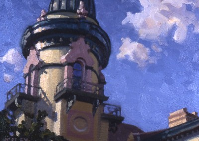 "Robert Morin Isley - ""Old City Jail"", 8x10, Oil, Sold"