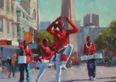 "Randall Sexton - ""High Steppin"", 30x24, Oil, Sold"