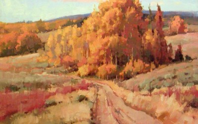 "Larry Moore - ""Golden Aspens"", 16x20, Oil"