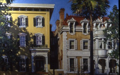 "Robert Morin Isley - ""Savannah Houses"", 30x40, Oil, Sold"