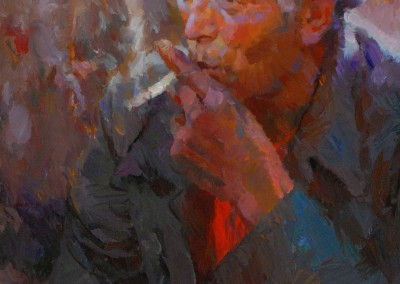 "Kevin MacPherson - ""A Good Smoke"", 20x16, 9500 Gold Medal Winner Master Signature Division"