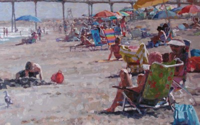 "Cameron Smith - ""Crystal Pier"", 36x48, Oil, Sold"