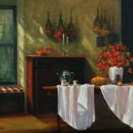 "Barbara Applegate - ""Afternoon Tea"", 14x18, 3300"