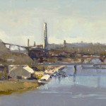 "Don Biehn - ""River Commerce"", 9x12, 1000"