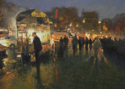 "Michael Budden - ""Selling The Sizzle, NYC"", 12x16, 2000"