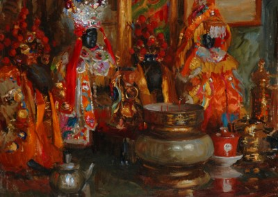 "Ken Cadwallader - ""The Shrine"", 24x30, price 5000"