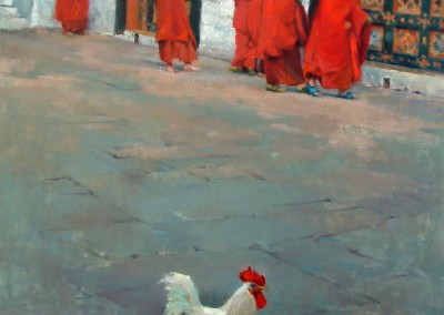"Debra Joyce Dawson - ""The Monks' Alarm Clock"", 28x22, price 3000"