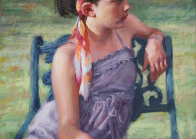 "Sue Foell - ""Seated Pose"", 20x16, price 2000"