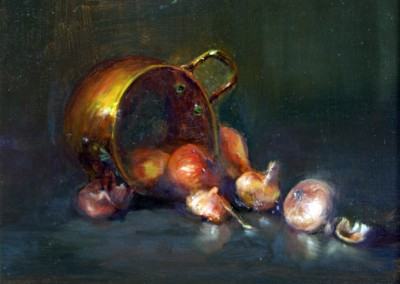 "Lyndia Green - ""Brass Pot"", 8x10, price 1000"
