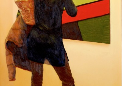 """Chris Griffin-Woods - """"Boots and Art"""", 30x15, price 1800"""