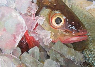 "Elaine Hahn - ""Fish Eye"", 16x16, price 2600"