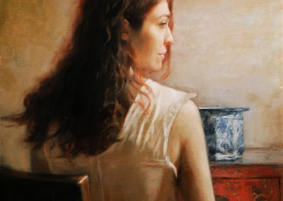 "Glenn Harrington - ""Woman Seated with Vase"", 24x18, price 9500"