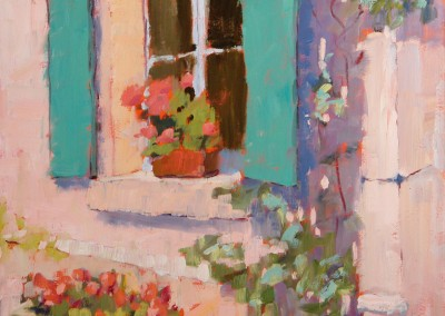 "Blanche McAlister Harris - ""Green Shutters"", 20x16, price 850"