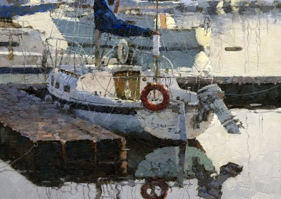 "Xiao Jiang - ""Boat Place"", 12x10, $2500 Award of Excellence"