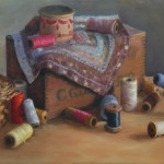 "Susan Jositas - ""My Grandmothers Threads"", 12.5x18.5, $1800"