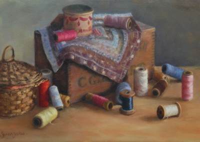 "Susan Jositas - ""My Grandmothers Threads"", 12.5x18.5, 1800"