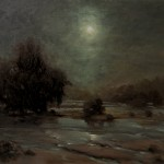 "Chuck Larivey - ""Prussian Moon on the James from Belle Isle"", 20x24, $2150"