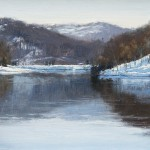 "John Menck - ""Snow on Radnor Lake"", 9x12, $800"