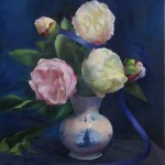 "Mary Rose OConnell - ""Peonies in Delft Vase"", 20x16, 3200"