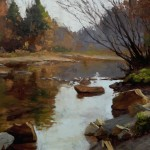 "Carol Reesor, ""Scene of Otter Creek"", 20x24, $2000"