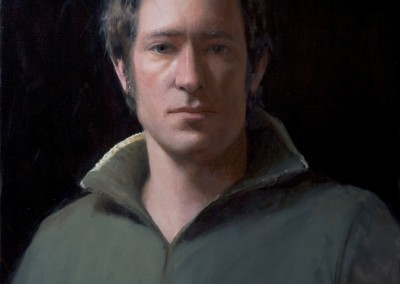 "Travis Seymour - ""Looking Ahead Without Pain, Fear, or Guilt: A Self Portrait"", 20x16, 3500"