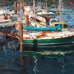 "Yan Sun - ""Boats at the Harbor"", 24x36, $3600"