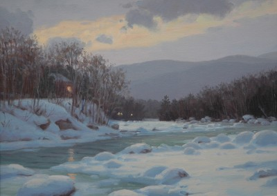"Sam Vokey - ""Winter Twilight"", 16x20, 5200"