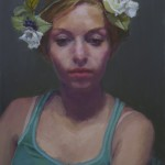 "Mark Zelten - ""Girl with Flowers"", 16x12, $675"