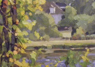 "Robert Morin Isley - ""Along the Waterway - Wilmington"", 8x8, Oil, SOLD"