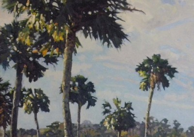 "Robert Morin Isley - ""Island Causeway"", 18x36, Oil, SOLD"