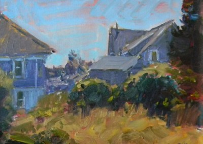 "Tim Bell - ""Island Yard"", 14x18, Oil, Sold"