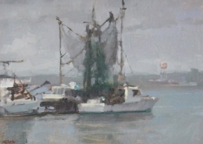 "Randall Sexton - ""Dockside"", 12x16, Oil"