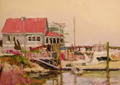 Perry Austin - Dockside, 12x16, SOLD