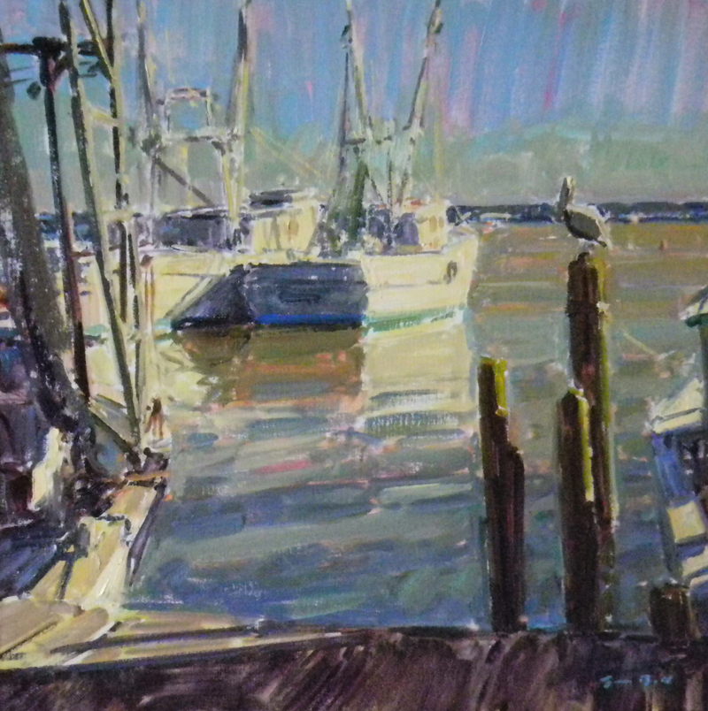 Walls Fine Art Gallery|Tim Bell|Early Bird|Sneads Ferry|Paint Wilmingotn