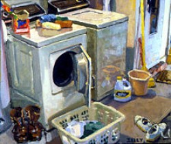 Robert Isley, Walls Fine Art Gallery, Washer Dryer, painting of a laundry room