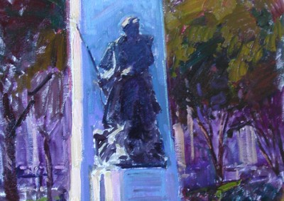 "Tim Bell - ""Confederate Monument"",  Oil, Sold"