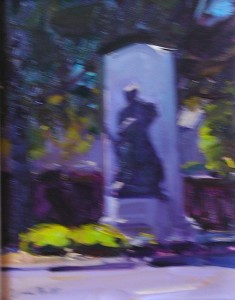Tim Bell, Walls Fine Art Gallery, confederate monument, oil painting, fine art, Maryland artist